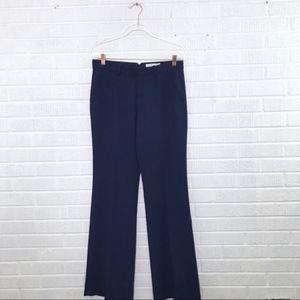 Joie Lavelle Wide Leg Trouser Pant Navy Blue 4
